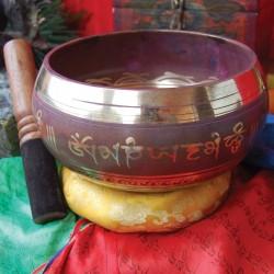 Cuenco tibetano brass violeta