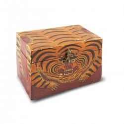 Caja de madera pintanda a...