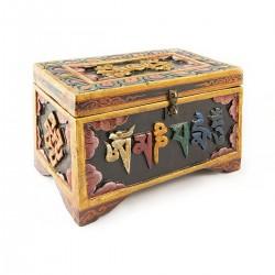 Caja de madera tallada XXL...