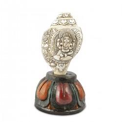 Caracola XL tallada Ganesha
