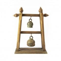 Campana doble soporte madera