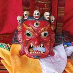 Máscara Mahakala tibetano roja