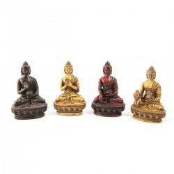 Buda resina color rojo