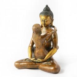 Buda del amor bronce