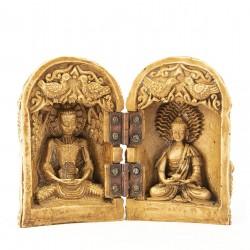 Tríptico doble talla Buda