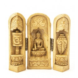 Tríptico talla Buda pequeño